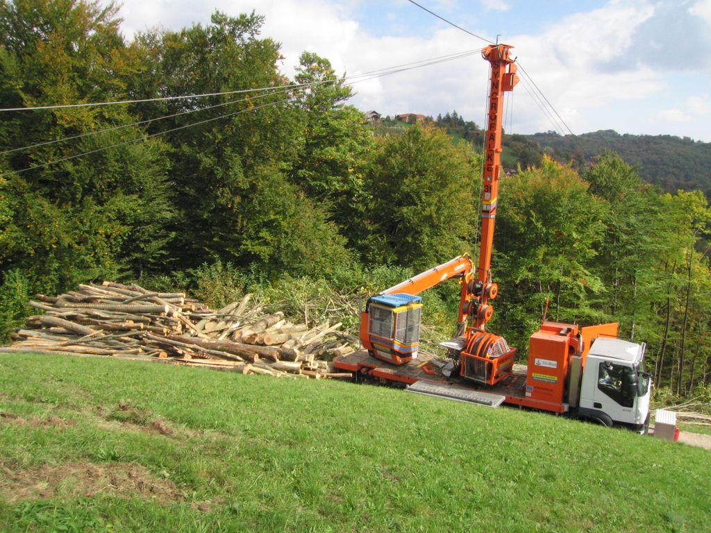 Wood harvesting – cableway