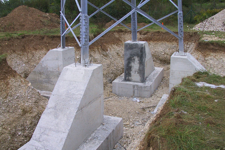 Foundations of the 110 kV transmission line