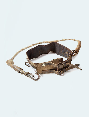 Maintenance man's safety belt from 1956